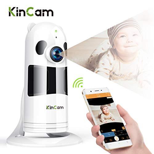 KinCam WLAN IP Kamera HD Überwachungskamera Baby Monitor Cloud Speicherkamera mit Nachtsicht, Bewegungserkennung und Zwei-Wege-Audio, Indoorkamera/Haustier Kamera geeignet für iPhone/Android/iPad. -