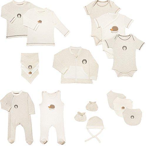Erwin Müller Erstausstattung Baby-Bekleidungspaket Baby-Set - 17-tlg. - natur/beige/orange - Baumwolle - Neugeborenen-Set - hautfreundlich