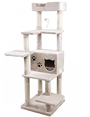 PET SHINEWINGS Multi-level Extra Large Cat Tree with Scratching Post Climbing Play Tower