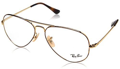 Ray-Ban Unisex-Erwachsene 0RX 6489 2945 58 Brillengestelle, Gold Topo On Havana