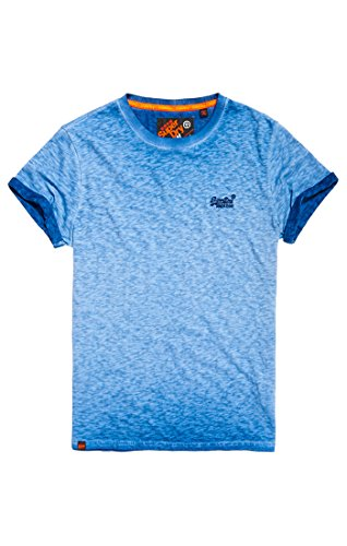 Superdry Herren T-Shirt Orange Label Low Roller Tee Blu (Harrington Navy)