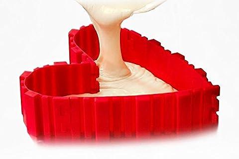 Kyerivs 4Pcs DIY Kuchenform Cake Mould Nonstick Silikon Magic Bake Snake Backen Kuchenform Werkzeug(Herzform, Rund, Blume, quadratisch )