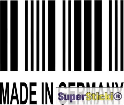 SUPERSTICKI Made in Germany Barcode Autoaufkleber Wandtattoo ca 15 cm Tuning Hobby Deko