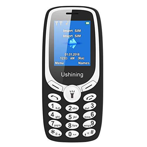 GSM Mobiltelefon Billig, Günstige Einfach Tasten Senioren Handys Ohne Vertrag (1.8 Zoll Display, Kamera, Bluetooth, extra Lange Akkulaufzeit, Radio MP3, Dual-SIM) - Schwarz