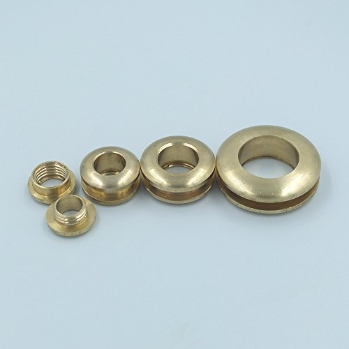 5 Sets Grommet eyelets 13 mm 16 mm 20 mm 28 mm canvas leather clothing Auto backrest Wallet with brass buckle, 20mm 3 / 4 '