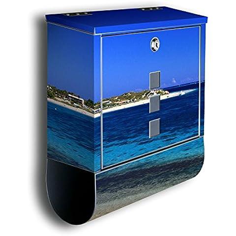 Cassetta della posta con decorazione immagine: Shark Bay Australia BK219, in acciaio inox Designer Post (Australia Post)