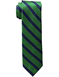Tommy Hilfiger Men's Slide Stripe Tie, Green, One Size