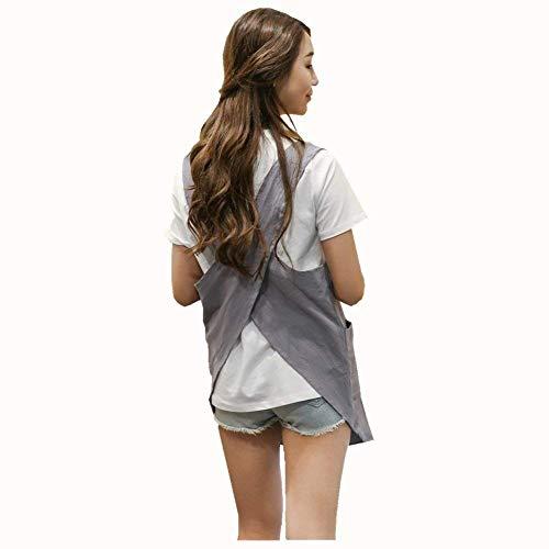 Lino-Delantal Delantal algodón falda halter vendaje