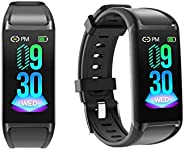 LCARE Mambo Fitness Band Pedometer, HR and BP, Sleep Tracker, Smart Activity Tracker for Android and iPhone (B