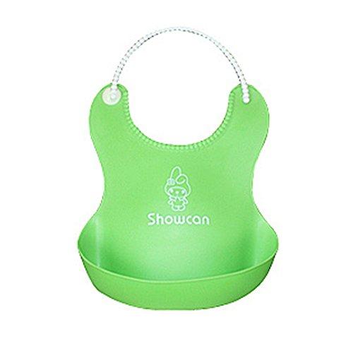Fulltime(TM) Imperméable bébé Bibs Déjeuner en silicone Mignon Mignon ( vert)