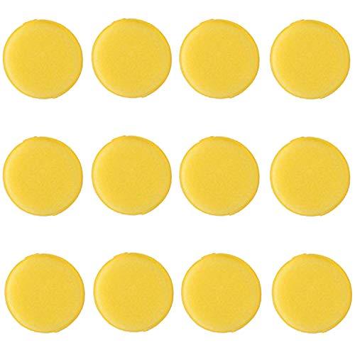 Microfaser Wachs Applikator, Fancartuk Ultra Soft Microfaser Wachs Applikator Pads für Wachse, Polituren, Lackreiniger, Autopolitur, statt Poliermaschine (gelb)