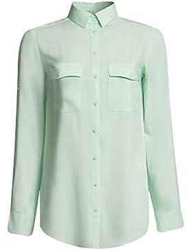 PIECES Pcanna Ls Shirt Ff, Blusa para Mujer