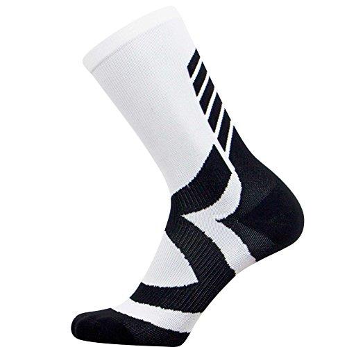 Nike Volleyball Spandex (Elite Kompressionsstrümpfe für Basketballsocken, Sportsocken, Herren, S/M, White/Black)