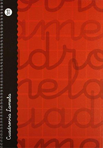 Lamela 99-N - Cuaderno con espiral, folio, tapa dura, color rojo, talla 80 páginas/ 3 mm