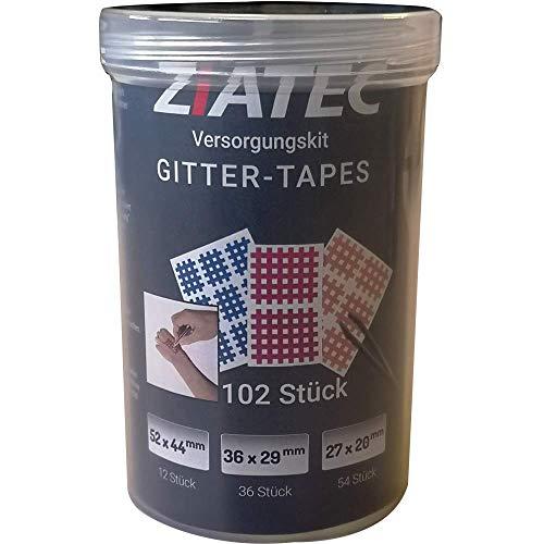 Ziatec Gitter-Tape Versorgungskit mit Schutzdose, 102 Pflaster