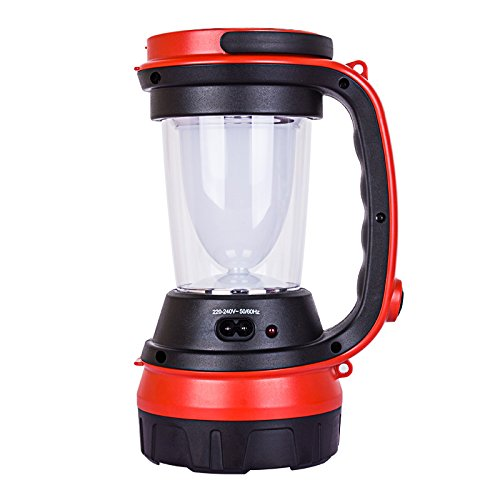 Omped Zelt Camping Lampe Licht Haushalt Notbeleuchtung Outdoor Camp Lampe Akku Handscheinwerfer Angeln Multifunktionshebel tragbare Lampe Orange Laterne, Kn-8113 La Multifunktionale tragbare Lampe Rote Led (Outdoor-camp-licht)