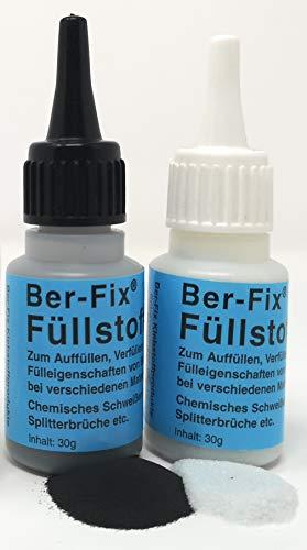 2x 30g Füllstoff in Schwarz und Weiss Granulat für Industriekleber und Sekundenkleber für die Schweissnaht