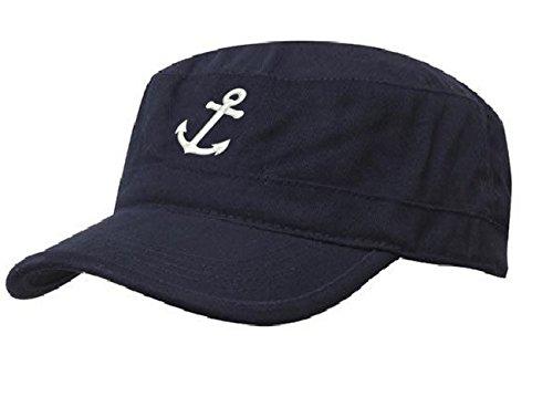 Kapitänsmütze Mütze Anker Army Military Baseballmütze Anchor Cap Schiff Yacht...