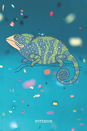 Notebook: Funny Blue Party Chameleon Lizard Planner / Organizer / Lined Notebook (6