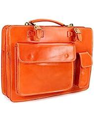 Belli , Sac à main pour homme Orange  Orange 39x29x11 cm