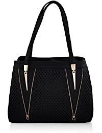 Mark & Keith Women Black Handbag(MBG 0412 BK)