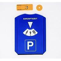 DS Varieties UG Parkscheibe mit Eiskratzer Einkaufschip und Reifenprofilmesser Parkuhr aus Kunststoff Parkuhr Auto blau