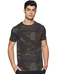 Amazon Brand - Symbol Men's Printed Regular Fit Half Sleeve Cotton T-Shirt