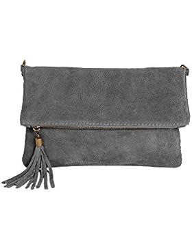 Leder Clutch kleine Ledertasche Wildleder Umhängetasche Abendtasche klein Partytasche Handtasche Lederhandtasche