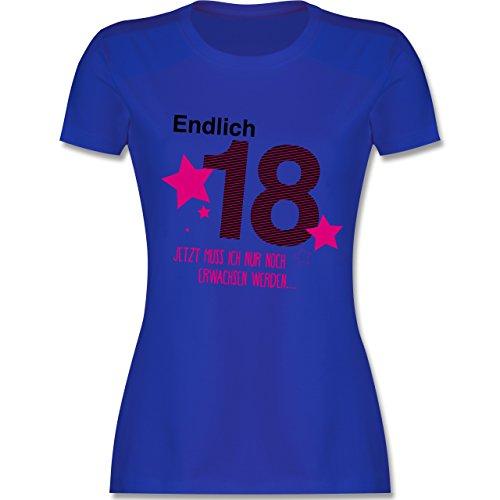 Geburtstag - Endlich 18 - S - Royalblau - L191 - Damen Tshirt und Frauen T-Shirt