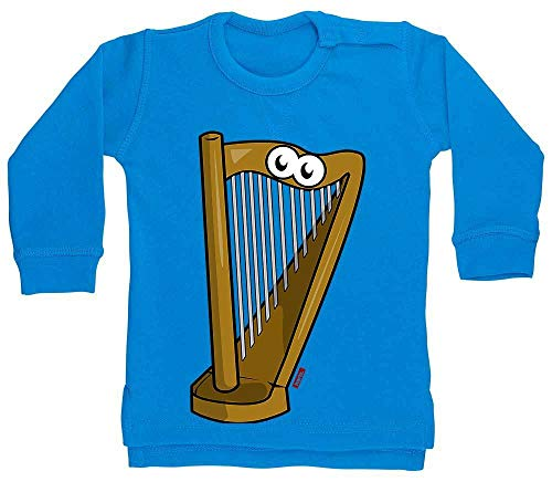 HARIZ Baby Pullover Harfe Lachend Instrument Kind Witizg Plus Geschenkkarte Delphin Blau 24-36 Monate