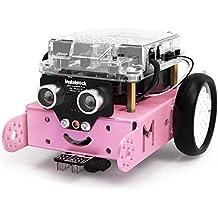 Makeblock DIY mBot 1.1 Bluetooth Version - STEM Education - Arduino - Scratch 2.0 - Programmable Robot Kit for Kids to Learn Coding & Robotics (Pink)