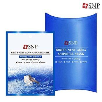 [SNP Cosmetic] Bird's Nest Aqua Ampoule Mask (10ea (Box Case))
