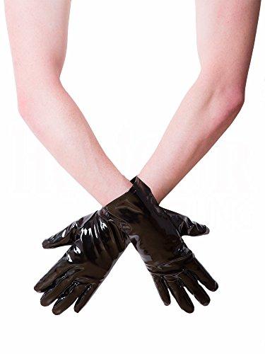 Kurze PVC-Handschuhe Schwarz Gr��e: XL