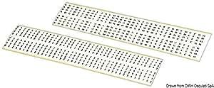 Lettres et chiffres autocollantes de 3mm noirs sur fond blanc, pièces: 320 numéros + 272 lettres