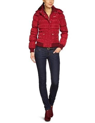 Pepe Jeans Damen Jacke Slim Fit PL400557 - Martins, Gr. 34/36 (S), Rot (Burgundy)