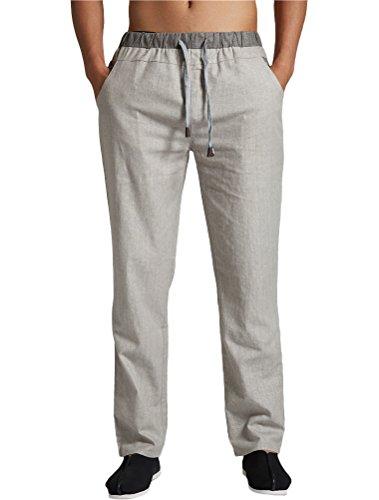 MatchLife Homme Drawstring Straight Pantalon Style2-Gris