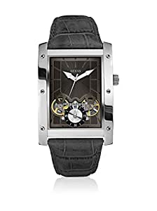 Guess - W16010G2 - Montre Homme - Quartz Analogique - Cadran Noir - Bracelet Cuir Noir