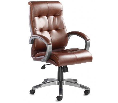 Great Buy for Catania Leather Faced Executive Chair – Height: 1095-1185 MM; Width: 645 MM; Depth: 760 MM – Color: Brown Review