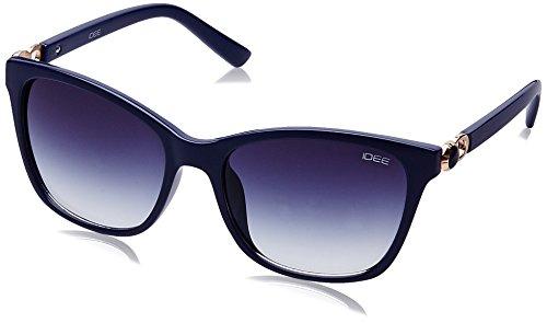 IDEE Gradient Square Women's Sunglasses - (IDS2083C5SG|55|Blue Gradient lens) image