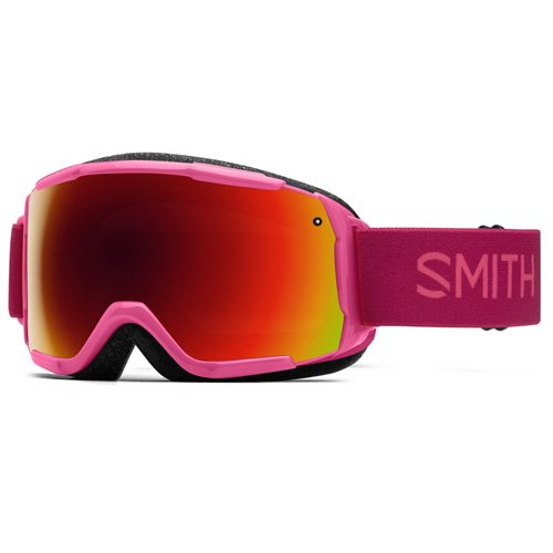 Smith Kinder GROM Skibrille, Rot Sol-X Mirror/Fuchsia Static Rosa, One Size