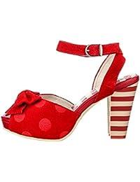 Lola Ramona - Sandalias de vestir para mujer Rojo rojo