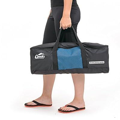 Qeedo Quick Jimmy Junior Cama de viaje para niños plegable - azul