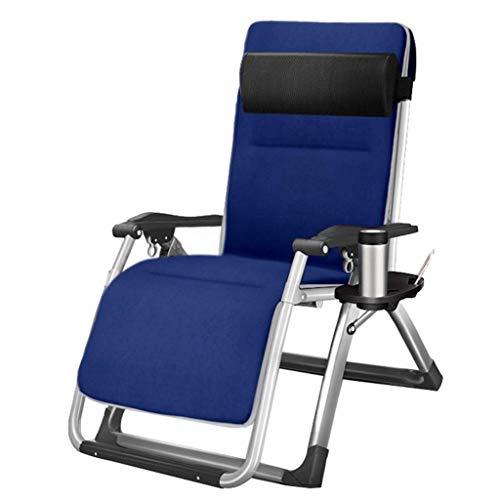 WJJJ Stuhl Lehnstuhl Klappstuhl Gartenstuhl Stuhl Mittagspause Stuhl Lazy Chair Sessel Verstellbarer Multifunktionsstuhl in der Sonne (Farbe: Stuhl + Kissen 1)