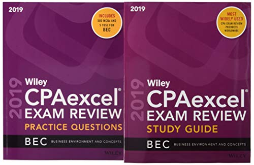 Wiley CPAexcel Exam Review 2019 Study Guide + Question Pack: Business Environment and Concepts