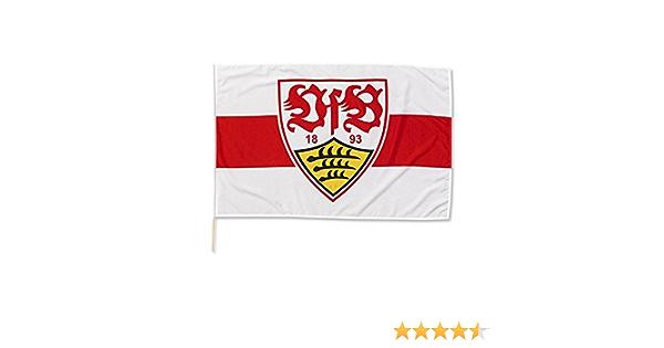 Flagge 120 x 80 cm Fahne Steig in den Ring Plus Lesezeichen Wir lieben Fu/ßball VfB Stuttgart Schwenkfahne