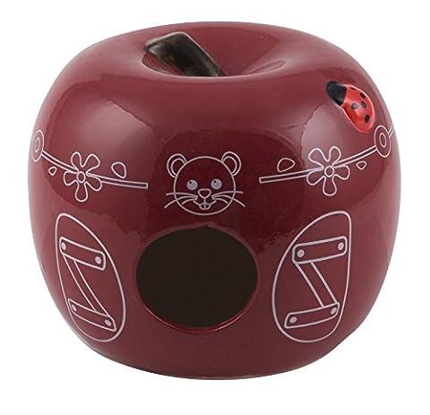 Hamster Russe - Nid pour petits rongeurs pomme céramique cerise