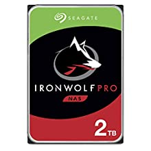 Seagate 2 TB IronWolf Pro 3.5 Inch Internal Hard Drive for 1-24 Bay NAS Systems (7200 RPM, 128 MB Cache, 300 TB/year Workload Rating, Up to 195 MB/s, Model: ST2000NE0025/NE0025)
