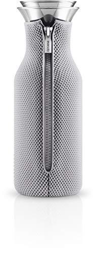 Eva Solo 567971 Glaskaraffe mit Meshanzug, Edelstahl, 1 L, Glas, Marble Grau, 27,6 x 10 x 9,4 cm