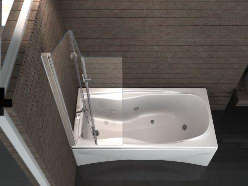 Duschabtrennung dreiteilig 130×140 cm - 3