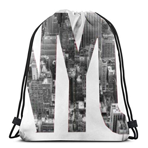 New York City Bag (Bag hat Newyork City 3D Print Drawstring Backpack Rucksack Shoulder Gym for Adult 16.9